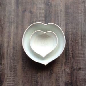 Heart Dishe white Rosemarie Durr
