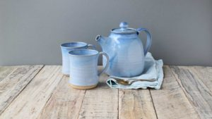Panty Cups Blue Range with Tea Pot