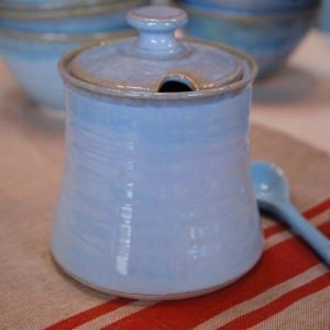 Lided Sugar Pot by Rosemarie Durr