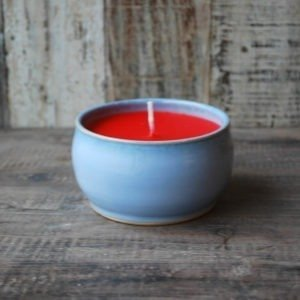 Rosemarie Durr red candle in holder