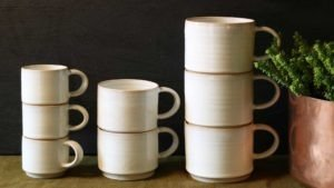 Stacking Cups inaction Rosemarie Durr Pottery
