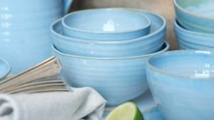 Blue Range Bowls in two size by Rosemarie Durr