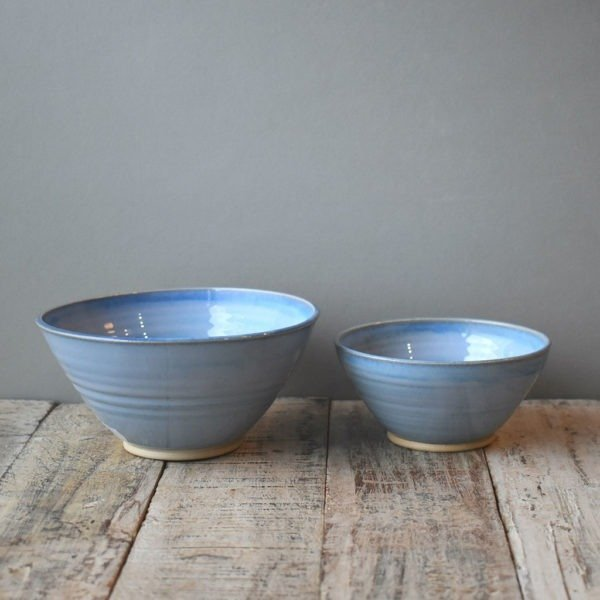 Soup and Dip Bowls Blue Range Rosemarie Durr Paottery