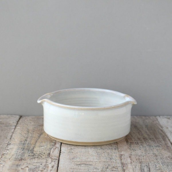 White baking Dish by Rosemarie Durr