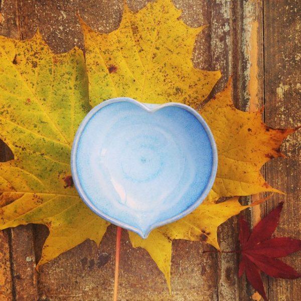 Heart Dish Blue Range Rosemarie Durr