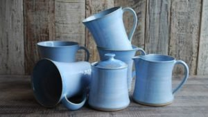 Blue Range Tea For Four by Rosemarie Durr