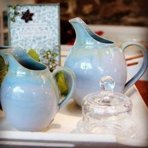 Blue Range Spouted Jugs Rosemarie Durr Pottery