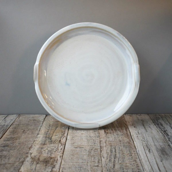 Large White Platter Rosemarie Durr Pottery