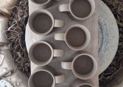 Rosemarie Durr Pots Drying