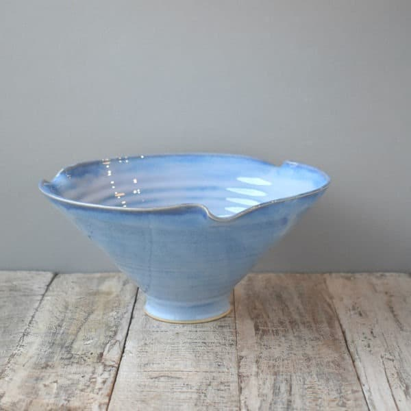 Scalopped Blue Range Bowl Rosemarie Durr Pottery