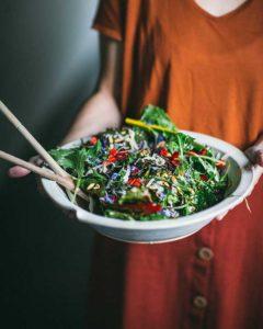 Serving in Rosemarie Durr bowl by Eva Kosmas Flores 6