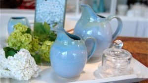 Spouted Blue Range Jugs by Rosemarie Durr