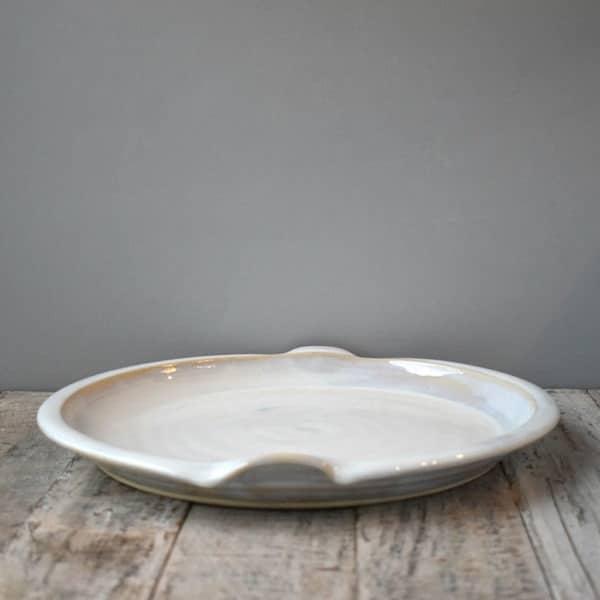 White Platter Rosemarie Durr
