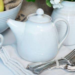 White Tea Pot Rosemarie Durr Pottery