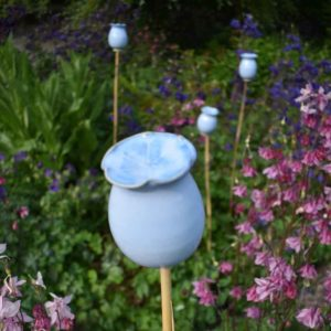 Glazed Poppy Seed Head Topper by Rosemarie Durr