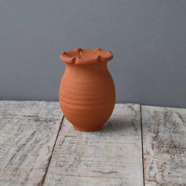 Poppy Seed Head Garden Cane Topper byRosemarie Durr Pottery